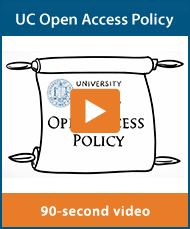 UC Open Access Policy 90 second video