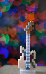 guitar made of building blocks