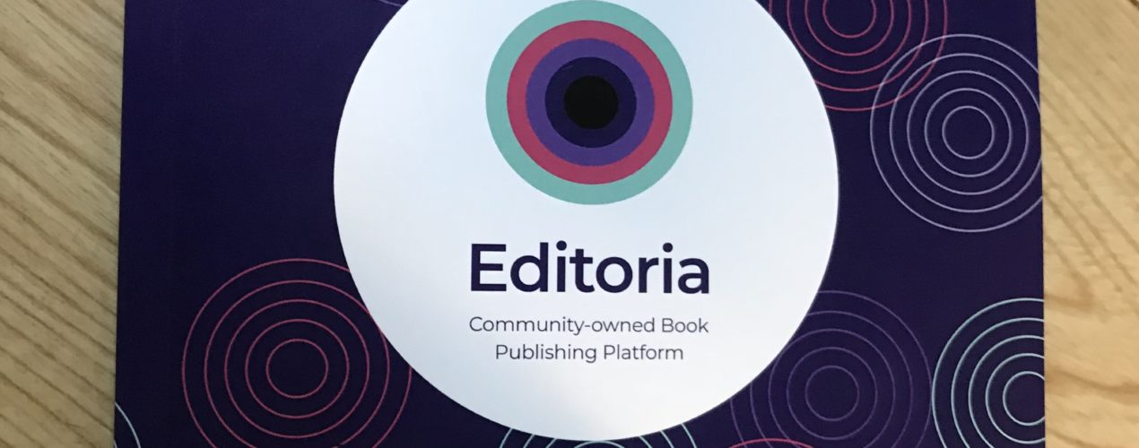 picture of Editoria book produced at recent Book Sprint