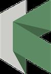 Kopernio logo, green stylized letter K