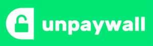 unpaywall logo, open padlock in green and white